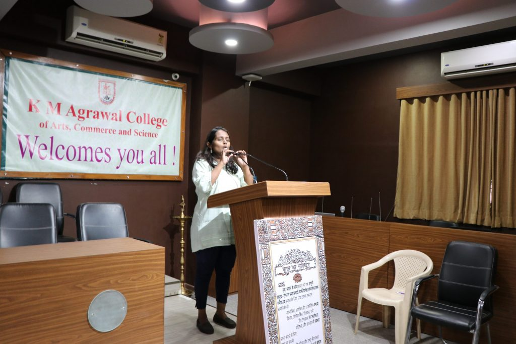 Deepa Pawar giving her speech